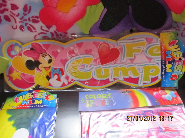Decoracion minnie mouse fiestas infantiles y - Guirnaldas para fiestas infantiles ...