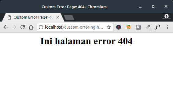 Membuat Custom Error Page Nginx