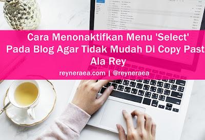 Agar blog tidak bisa dicopy paste