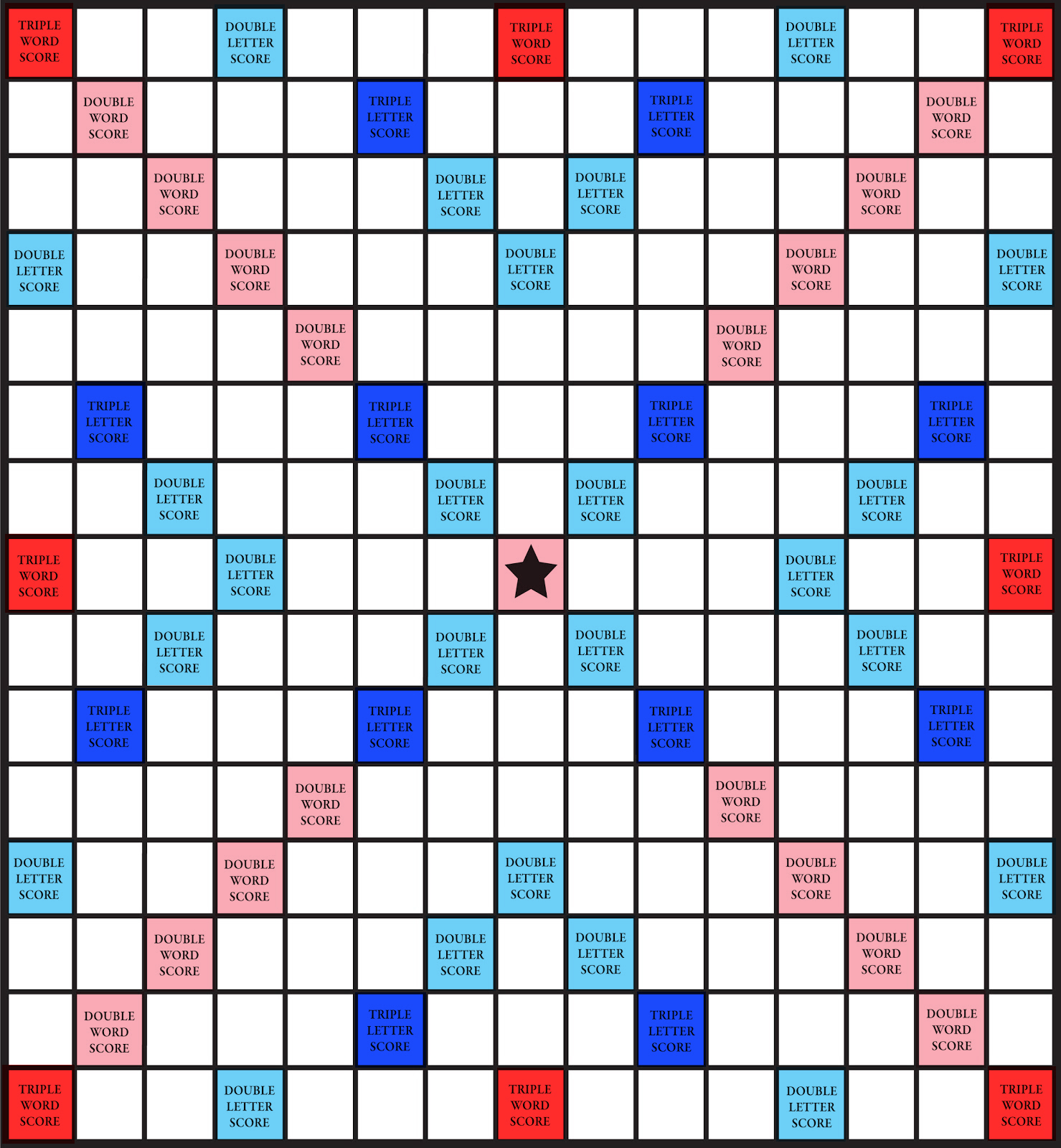 graphic relating to Printable Scrabble Board called Quirky Artist Loft: Totally free Colored Printable Scrabble Board