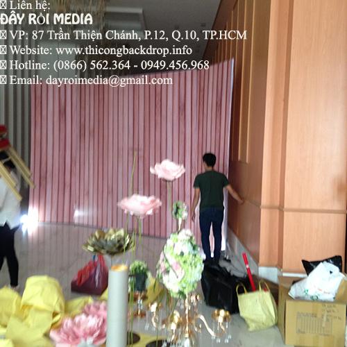 Hình ảnh thi công backdrop đám cưới tại tphcm