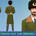 wool trench coat and ushanka hats
