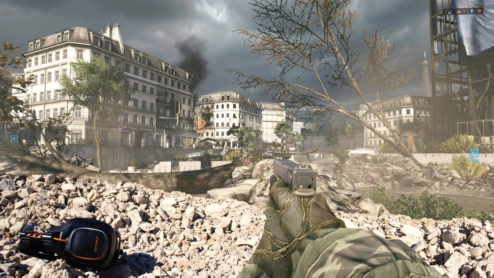 Photo de la map Metro avec l'Astro A50 édition Battlefield 4