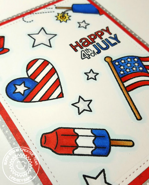 Sunny Studio Stamps: Stars & Stripes Fourth of July Card by Lindsey Bailey