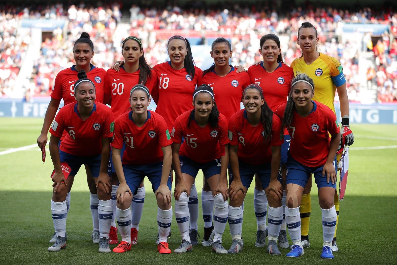 Formación de selección de Chile ante Estados Unidos, Copa Mundial Femenina de Fútbol Francia 2019, 16 de junio