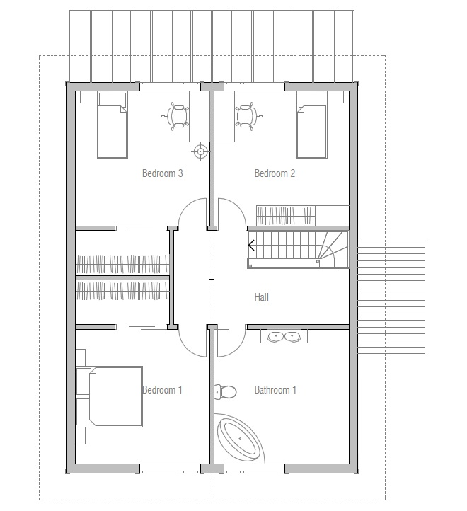 Affordable Home Plans: Affordable House Plan CH20