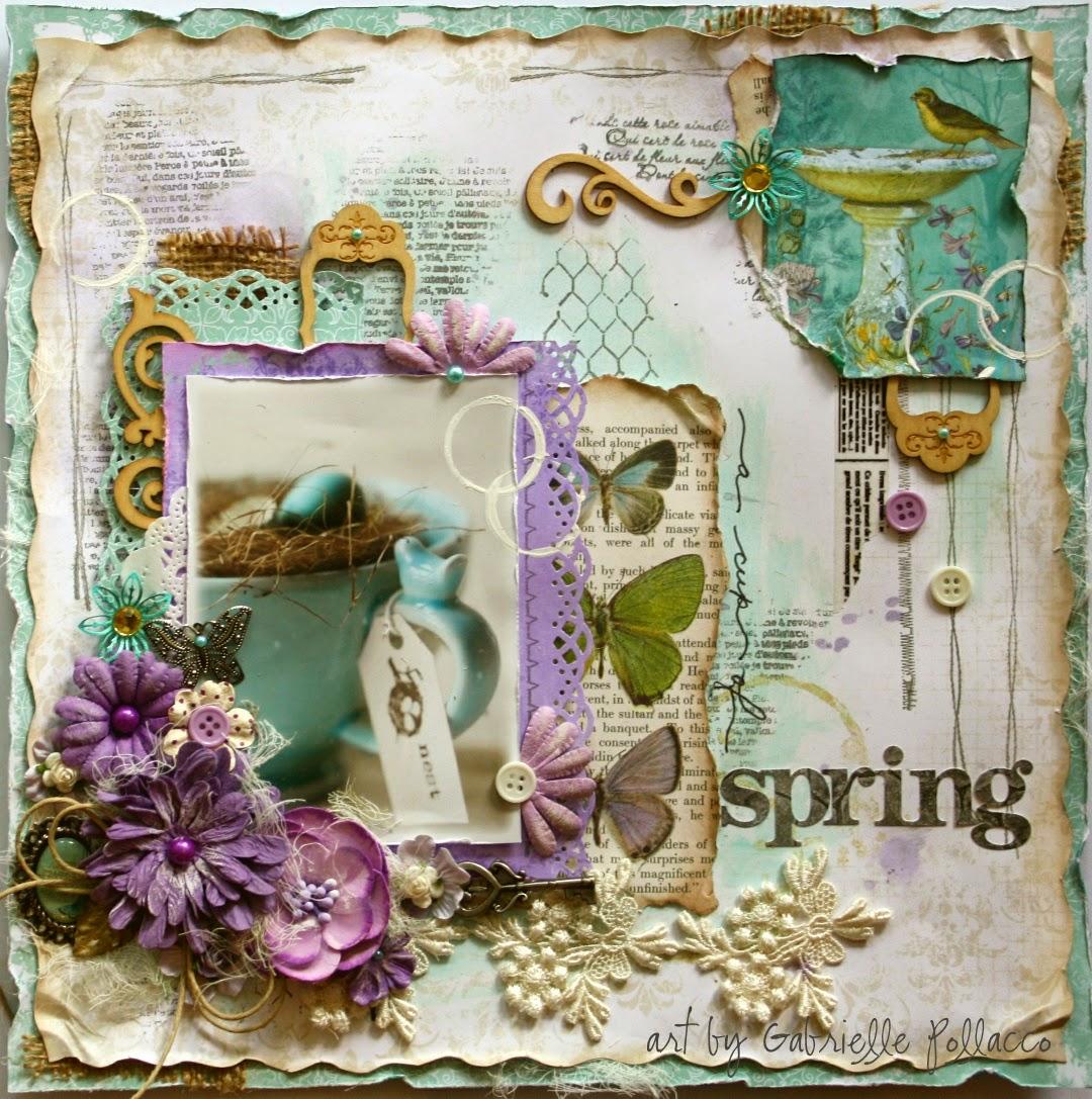 Enchanted Garden: Such A Pretty Mess: A Cup Of Spring {Bo Bunny's Enchanted