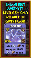 Insane Bolt - Wizard101 Card-Giving Jewel Guide