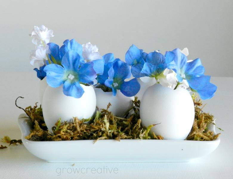 Floral Stuffed Egg Vases Tutorial: