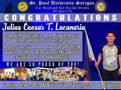 Congratulations, Julius Lacanaria! We are so proud of you!