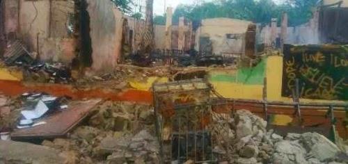 fire destroy saka office