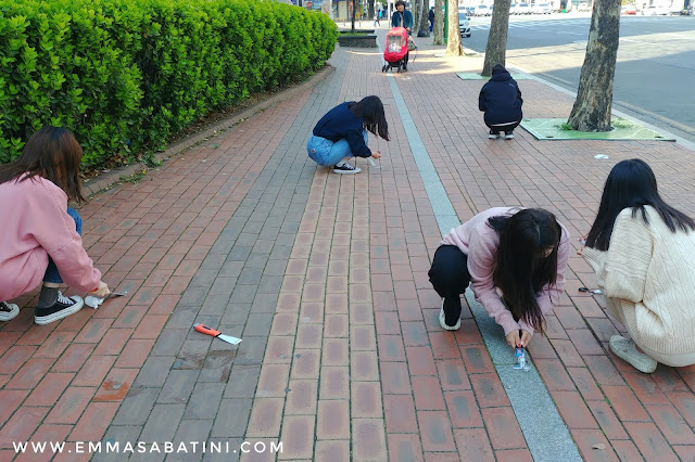 "Volunteer Work ""Chewing Gum Action"" 청춘ON도 중구자봉"