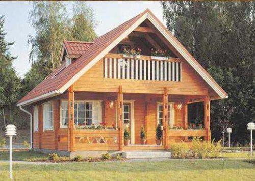 Rumah Kayu Minimalis Ruangan Kecil Lantai 2 Desain Idaman