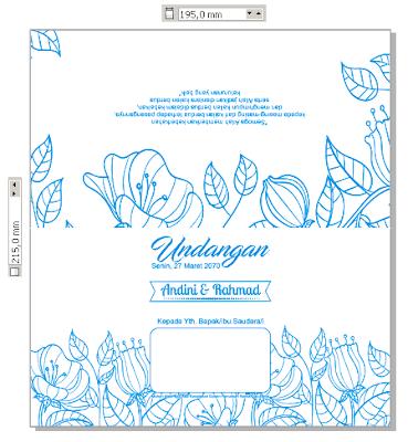 Desain Kertas Undangan Pernikahan Jasmine Murah yang Bisa Diedit dengan CorelDRAW