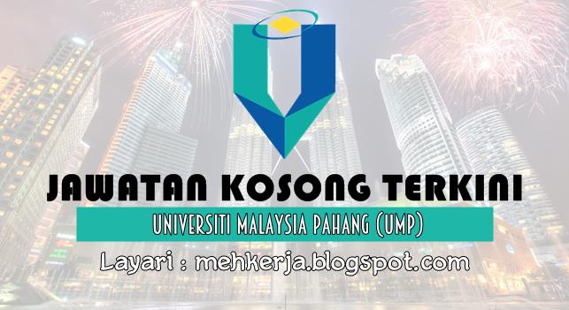 Jawatan Kosong Terkini 2016 di Universiti Malaysia Pahang (UMP)