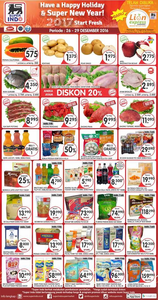 Katalog Harga Promo Superindo 26 – 29 Desember 2016