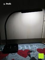3. Stufe: DBPOWER® Oberfl chenlichtquelle, Dimmbar, Augenschutz, LED-Schreibtischlampe (6W, 800LUX, 3-Level-Dimmer, Flexible Arm, schwarz)
