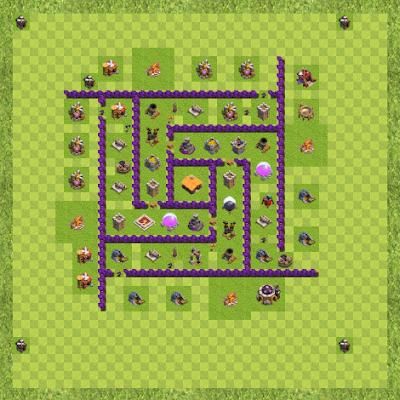 War Base Town Hall Level 7 By Rijazz Ali (sar TH 7 Layout)
