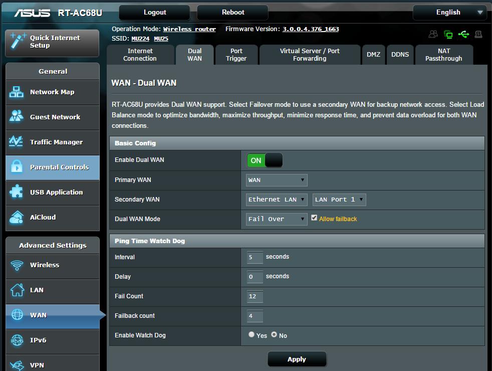 Gadgets - Techpoy: ASUS RT-AC68U - Dual WAN Set Up