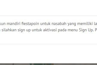Cara Registasi Mandiri FiestaPoin Update Terbaru 2019