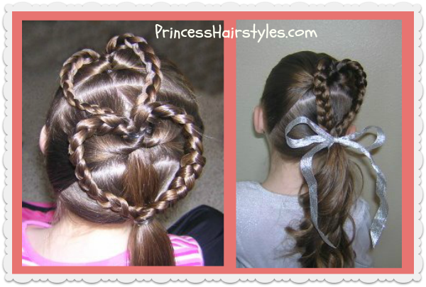 double heart hairstyle