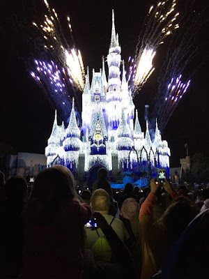 Christmas Lights on Cinderella's Castle