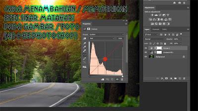 Cara Menambahkan / Memberikan Efek Sinar Matahari Pada Gambar / Foto (Adobe Photoshop / Link Video)