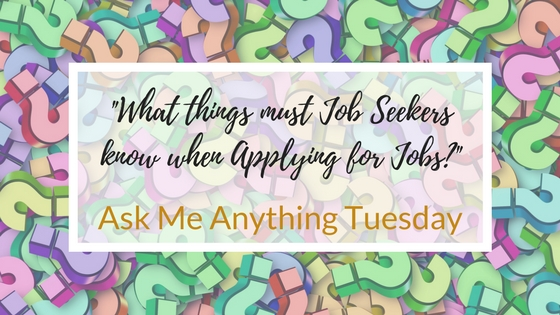 """What things must Job Seekers know when Applying for Jobs?"""