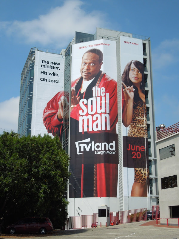 Giant Soul Man TV billboard