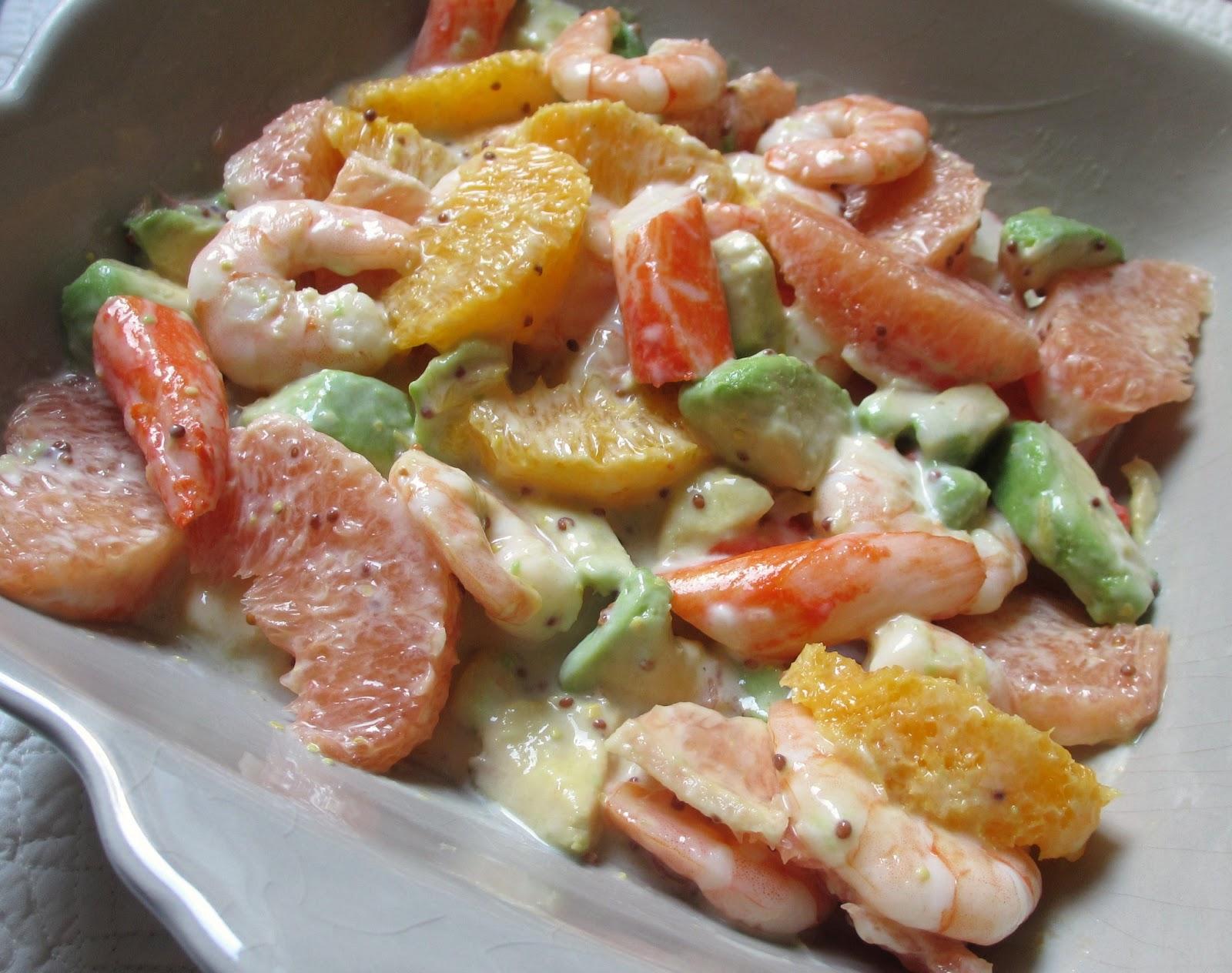 cooking julia salade fraicheur aux agrumes avocat et crevettes. Black Bedroom Furniture Sets. Home Design Ideas