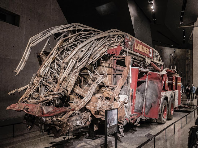 One of the first fire trucks to show up during 9/11