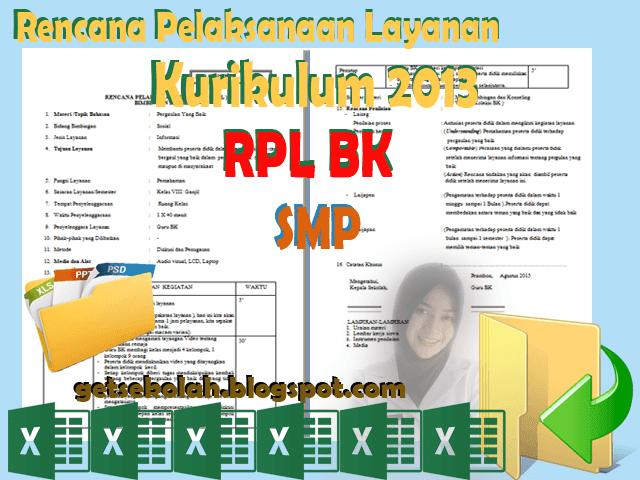 RPL Rencana Pelaksanaan Layanan  BK SMP Kurikulum 2013
