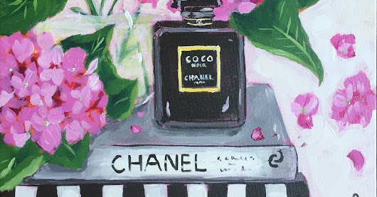 Chanel Perfume and Flowers