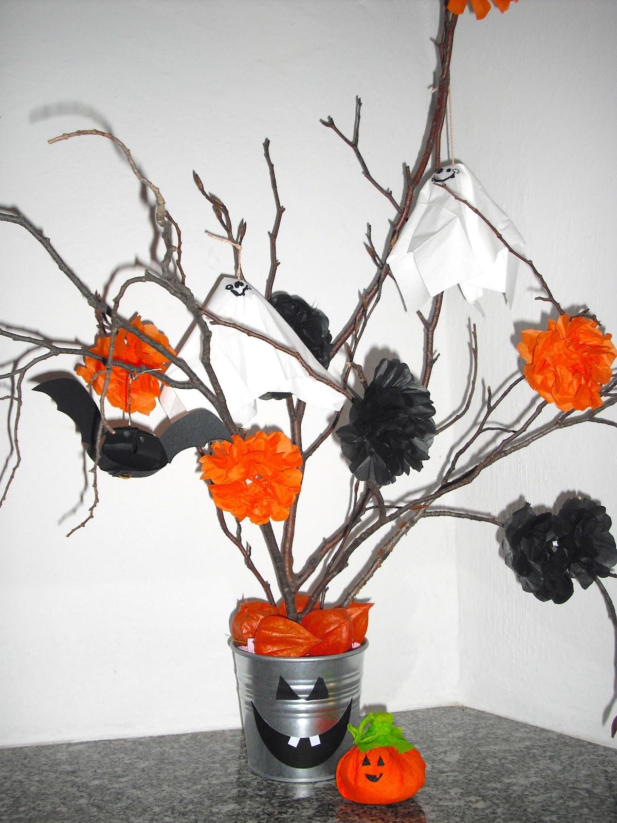 Piccole polpette crescono centro tavola per halloween - Decorazioni tavola halloween ...