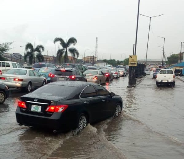 Floods Hit Parts Of Lagos After Heavy Rainfall (Photos + Videos)