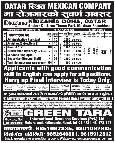 Jobs in Qatar for Nepali, Salary Rs 73,750