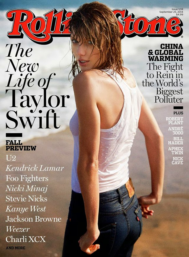 Taylor Swift wet t-shirt rolling stone