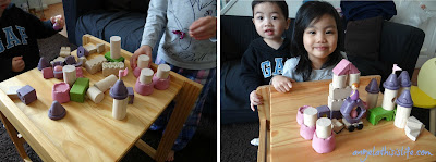 Fairy Tale Playset, fairy tale wooden toys, princess construction blocks