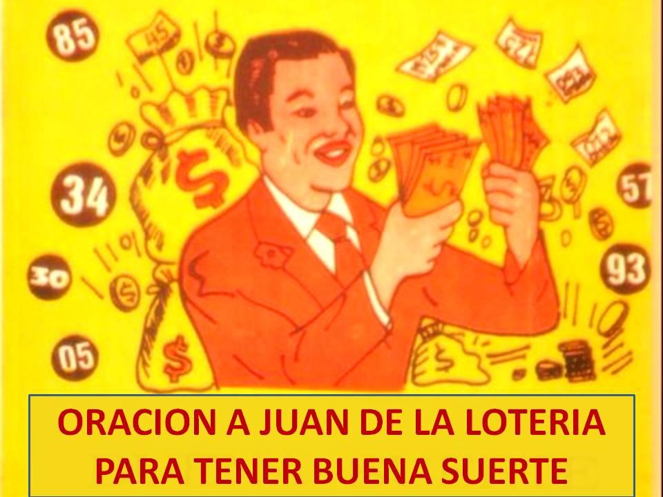 Oraci n a juan de la loter a para tener buena suerte en el - Para tener buena suerte ...