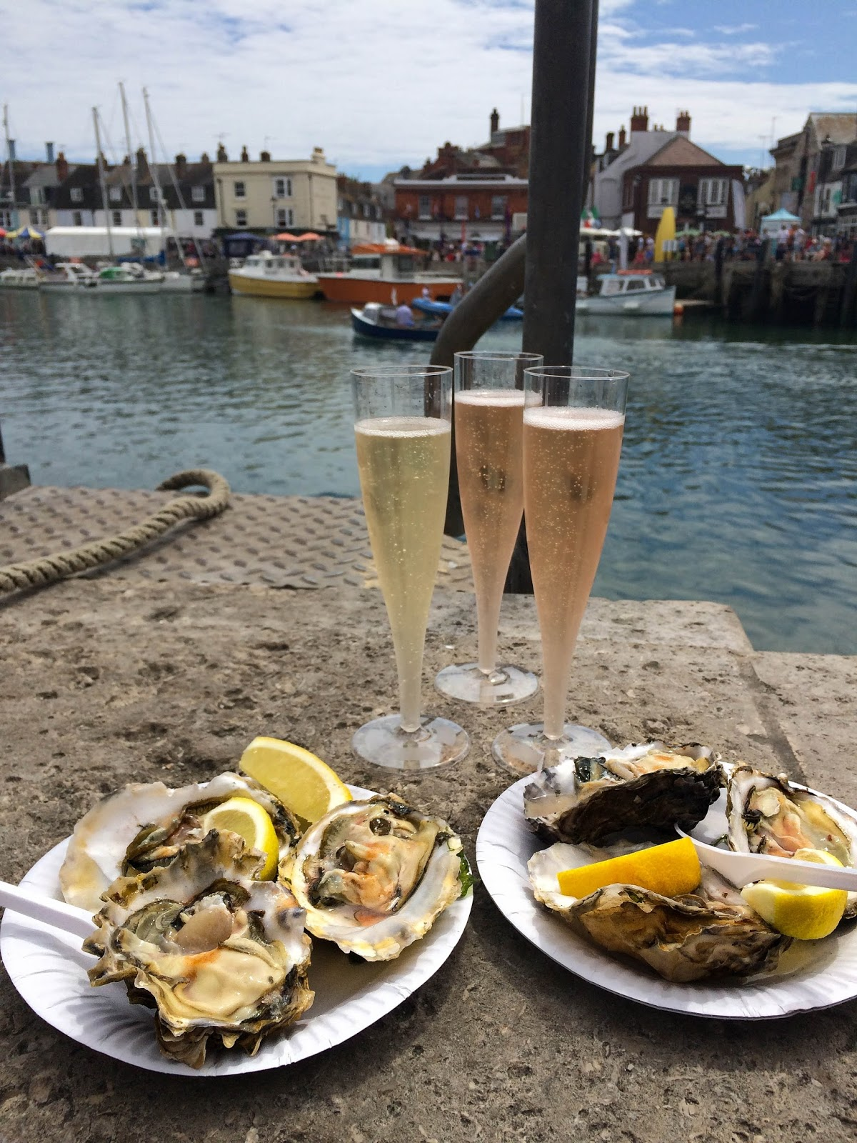 Pommery Dorset Seafood Festival in Weymouth, oysters and champagne, street food, food bloggers, lifestyle bloggers