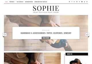 Sophie Minimal Blogger Template