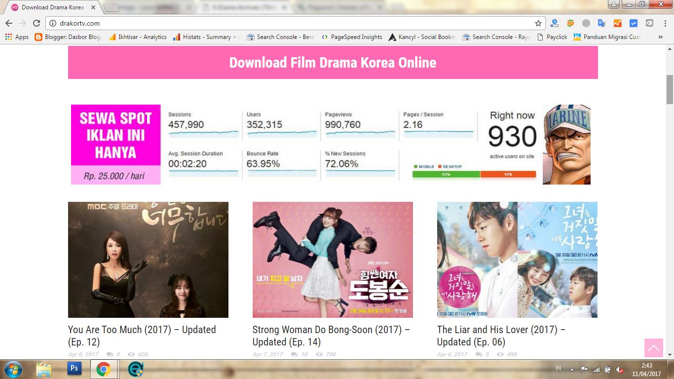 (Update) 5 Situs Download Film Korea (Drakor) Terbaik dan