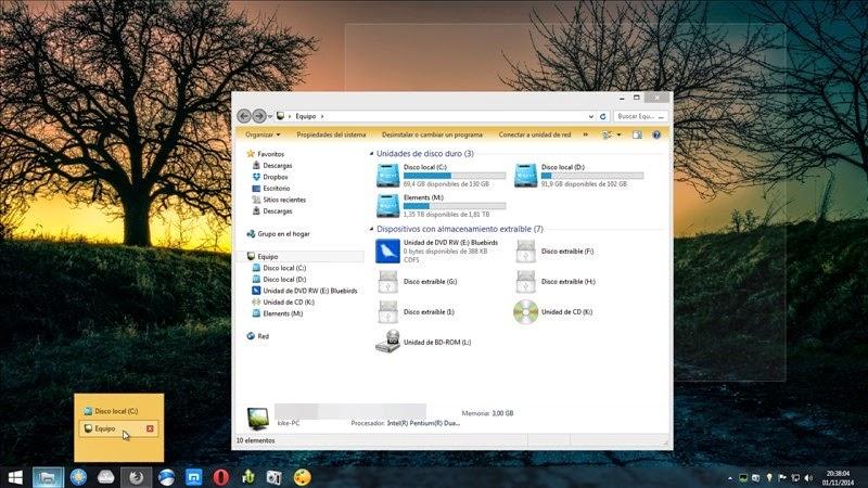 Añade nuevas y prácticas configuraciones a la barra de tareas de Windows