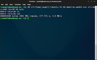 Membuat Bootable Flashdisk Lewat Terminal Menggunakan dd
