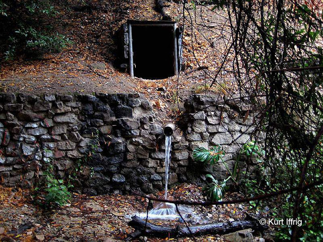Tunnel 8 in Las Flores Canyon was a gold mine and a water tunnel. Ore cart rails can still be found inside.
