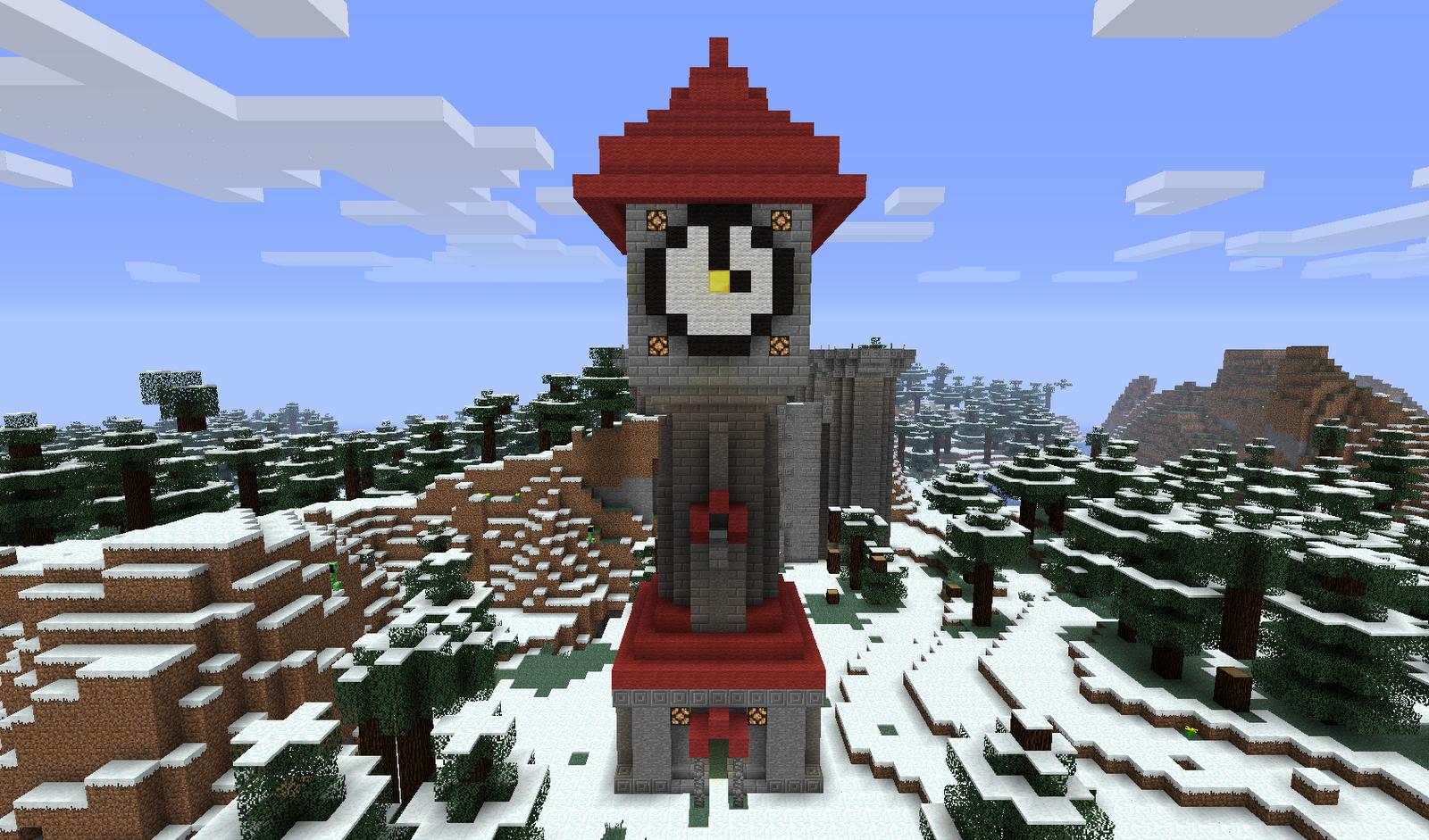 Minecraft Building Ideas: Clock Tower