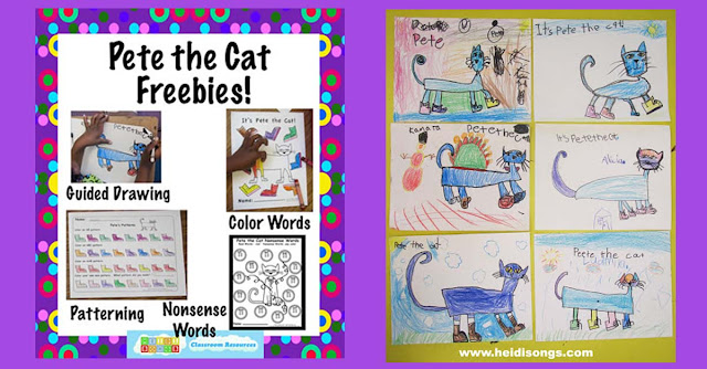 pete the cat guided drawing