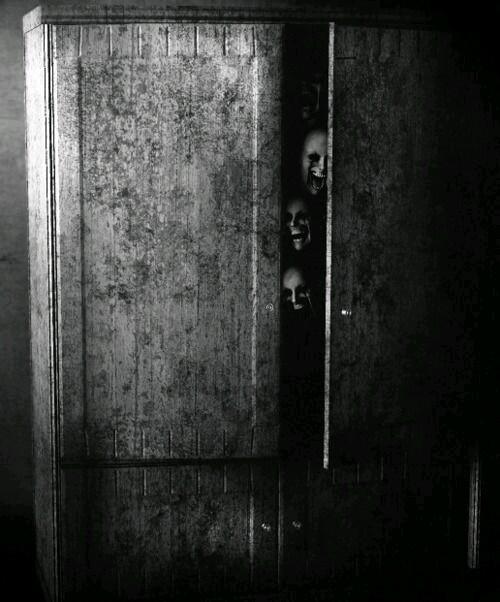 Resultado de imagen de casa miedo armario