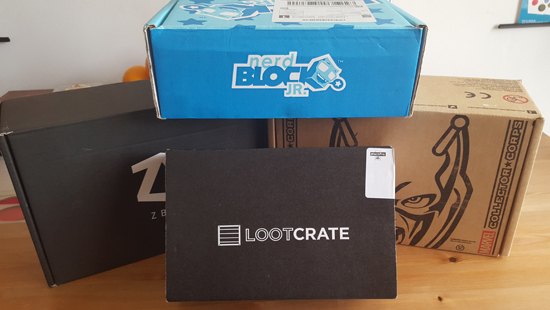 The first thing I noticed about Lootcrate before I even opened the box was the size!  I have to admit I was rather disappointed as I'd had such high expectations for this company!