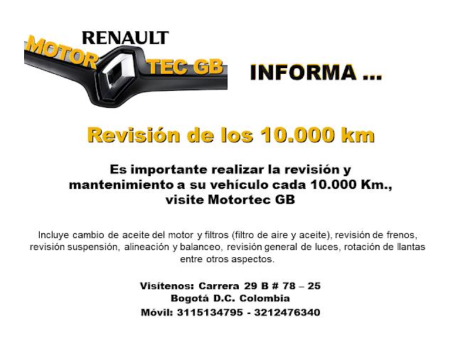 Revision  de los 10.000 km - mantenimiento automotriz